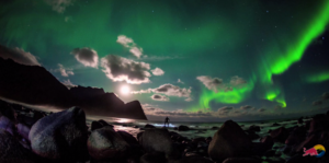 Mick fanning surfing northern lights with red bull